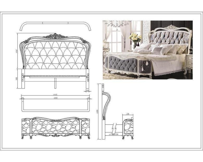 CAD法式新古典床平面设计图下载 3.06MB 床图纸大全 家具图纸