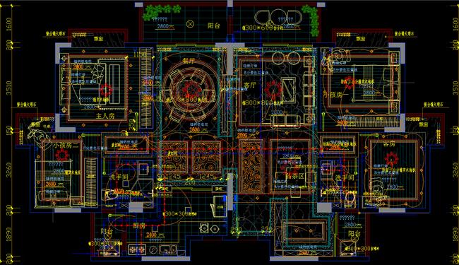 cad图库 室内设计cad图库 别墅cad图纸 > 欧式复式楼cad施工图带3d