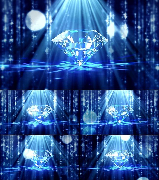 海洋之星卷珠帘钻石类led视频素材