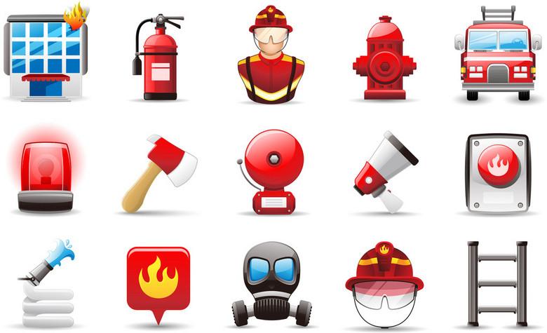消防图标消防图标消防栓灭火器