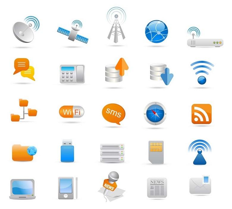 手机wifi图标图片下载ai素材 互联网图标