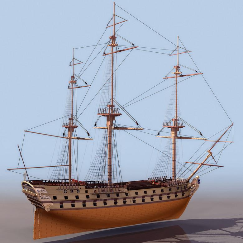 多桅帆船3DS模型设计图下载 图片2.67MB 其他模型库 其它模型图片
