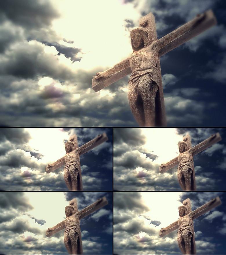 基督教耶稣十字架背景视频模板素材 高清格式下载 视频14.56MB 动态