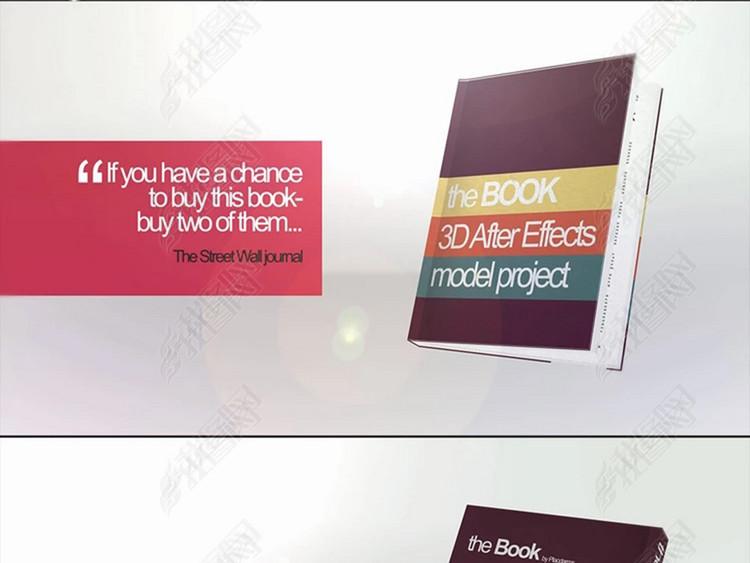 新书发行推广宣传包装设计视频ae模板