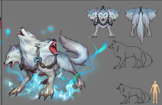 狼游戏模型 动作设计图下载(图片25.17mb)_游戏动漫库图片