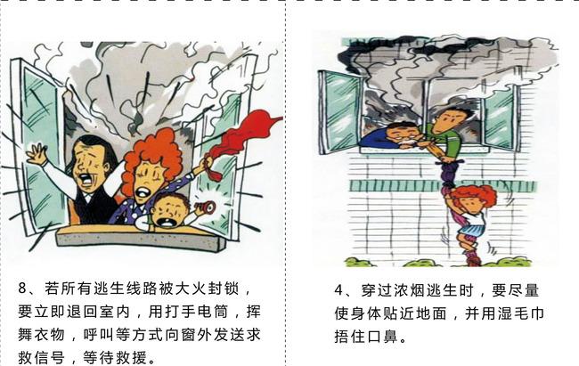校园社区消防安全宣传漫画