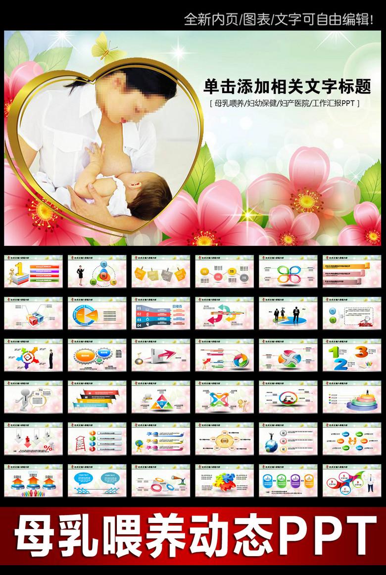 孕妇妇产医院妇产科PPT模板下载