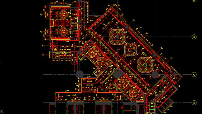 别墅设计效果图手绘图套房报建图施工图珠宝店cadcad展板房子cad图cad