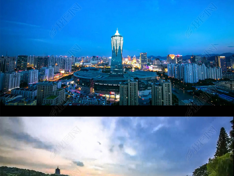 浙江杭州城市延时摄影视频
