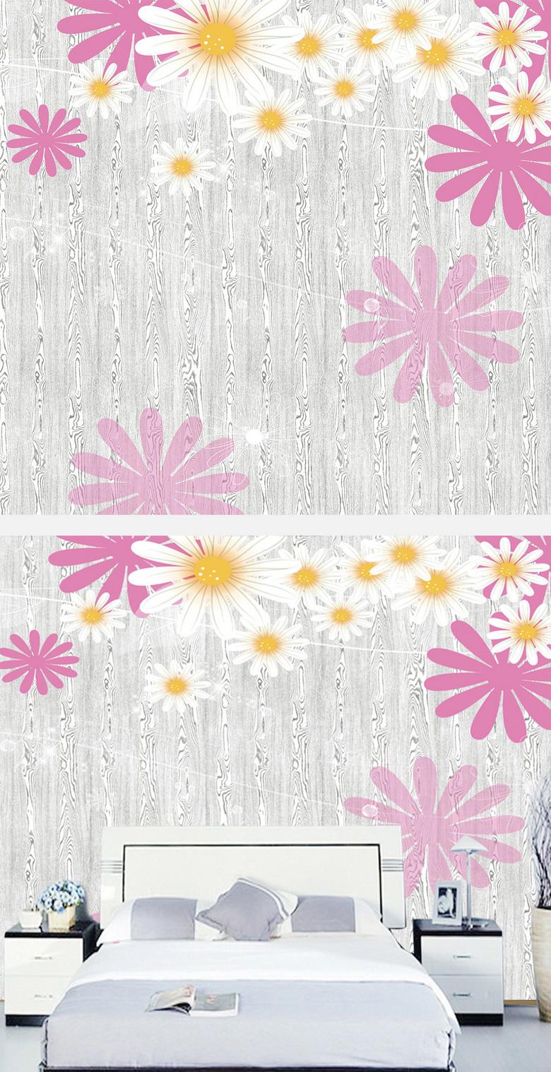 卡通花朵现代简约背景墙图片设计素材 高清模板下载 47.49MB 现代简