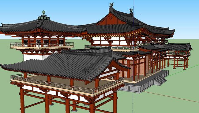 su古建草图大师传统木结构精致模型