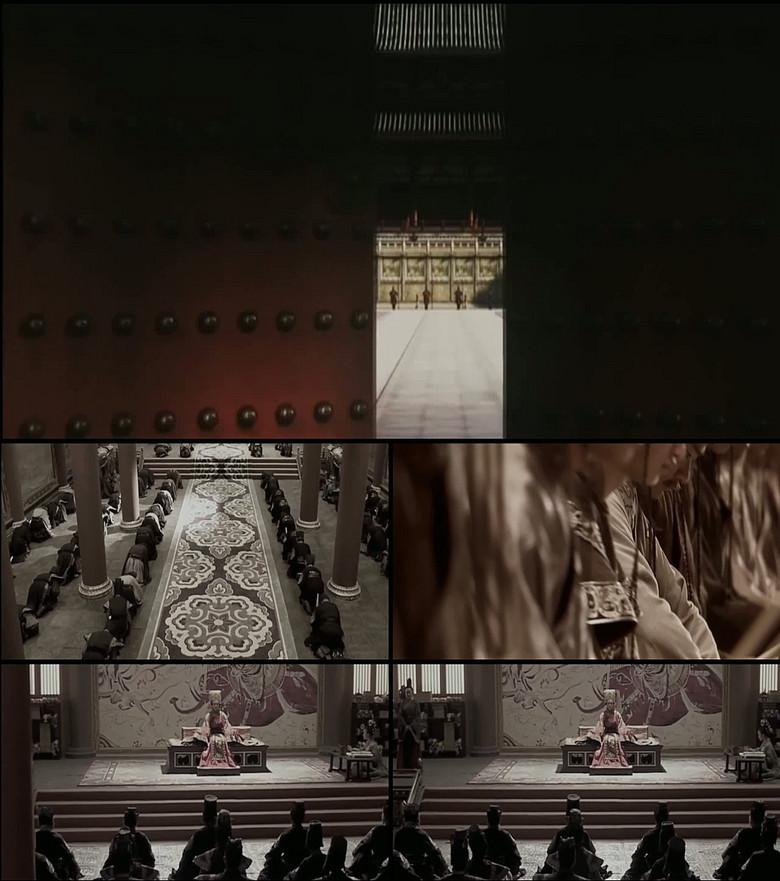 唐朝宫殿武则天女皇上朝高清实拍视频