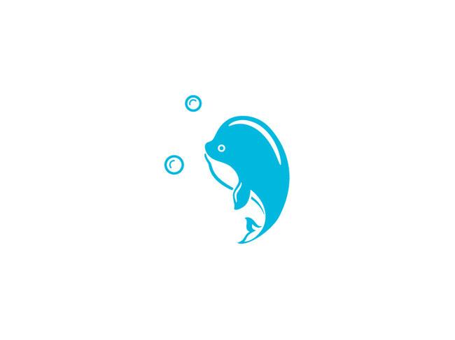卡通鲸鱼平面鲸鱼吉祥物卡通海洋动物图片