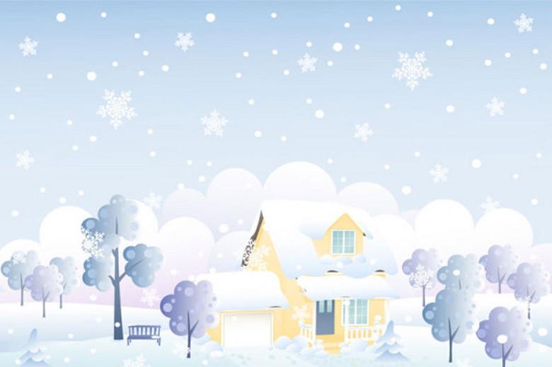 冬季雪景图 13936070 卡通