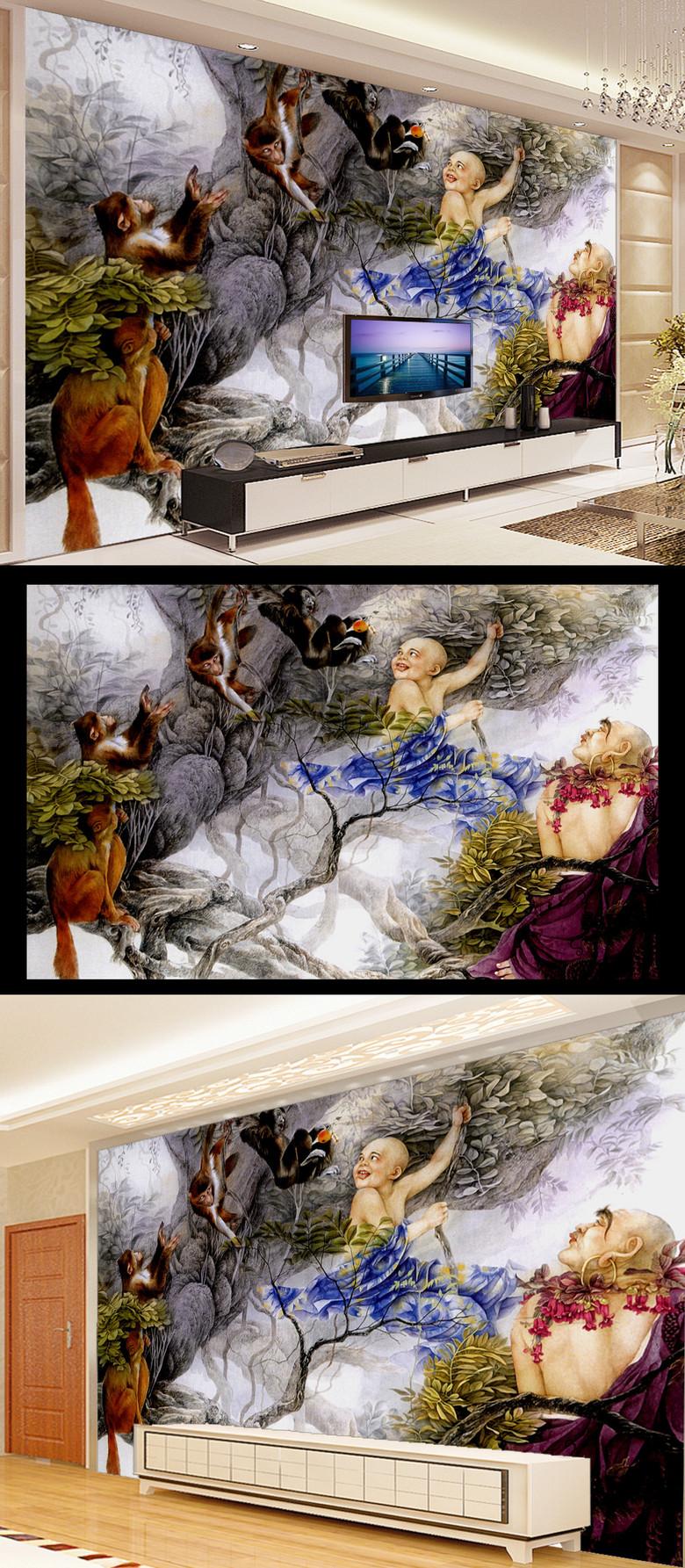 中式电视背景墙素材素材下载, 此素材为原创版权图片,作品大小为