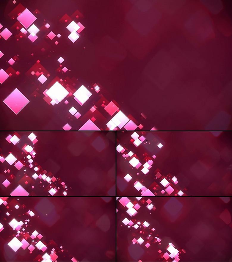 紫色方块暖色背景光线变换图片