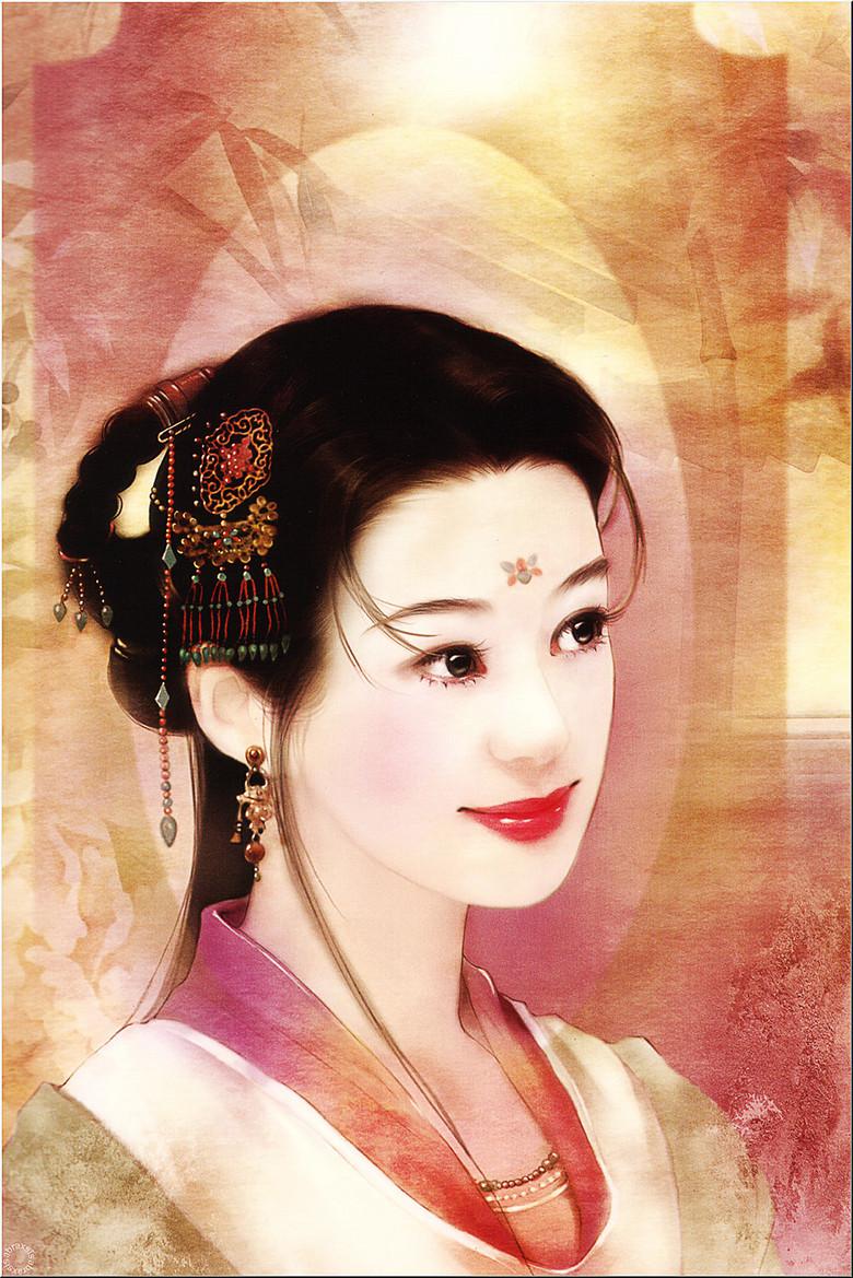 手绘古典古装美女清风侠女画像中国风装饰画高清图片下载 图片编号