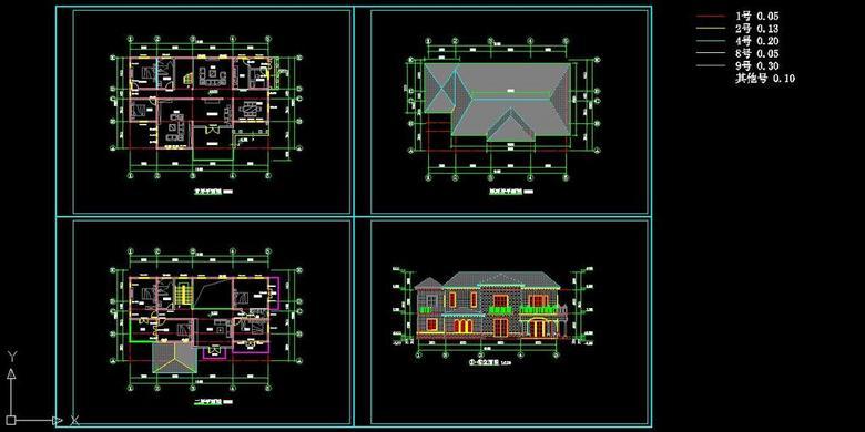 200平米二层别墅设计图
