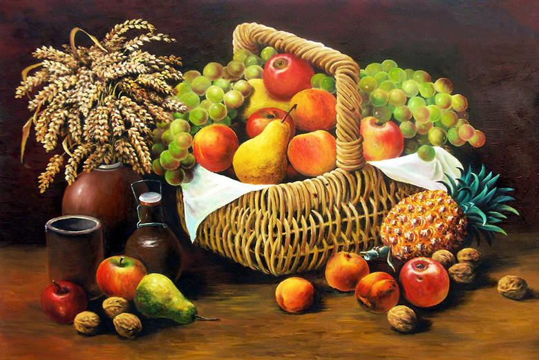 高清大图水果静物油画