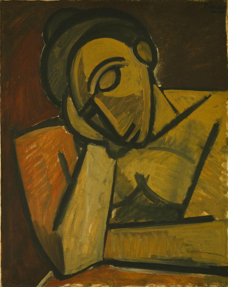 毕加索抽象油画作品