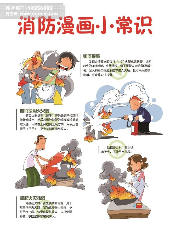 消防宣传漫画                                    消防宣传卡通展板