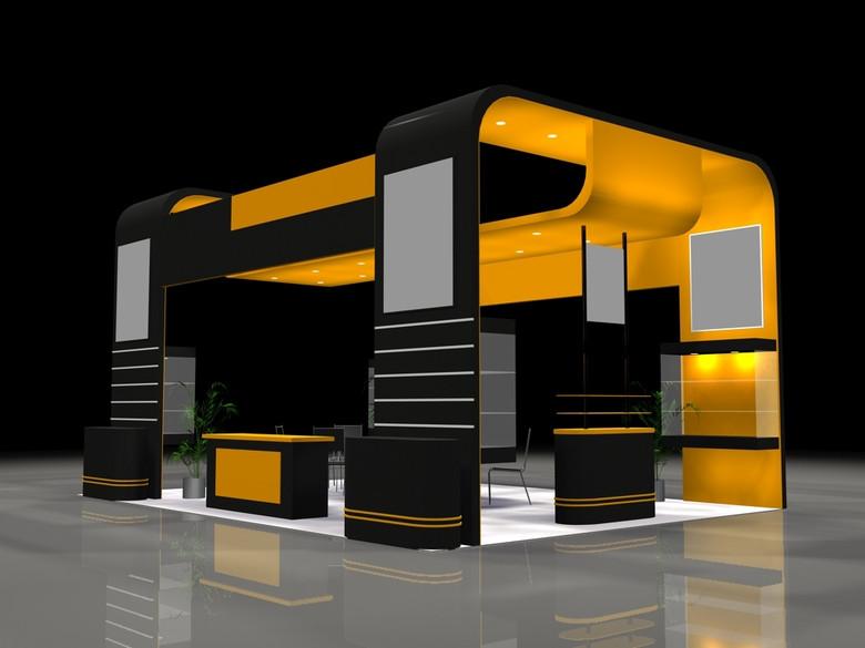 3D展厅模板下载设计图 图片0.10MB 电子科技库 展览模型