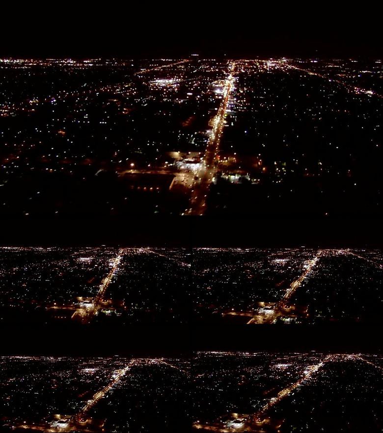 夜晚航拍俯视城市灯光视频素材下载