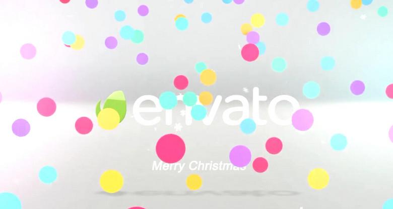 可爱卡通圣诞礼物盒打开转场展示—ae模板