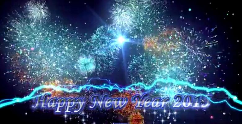 2015新年快乐烟花粒子动画-ae模板图片