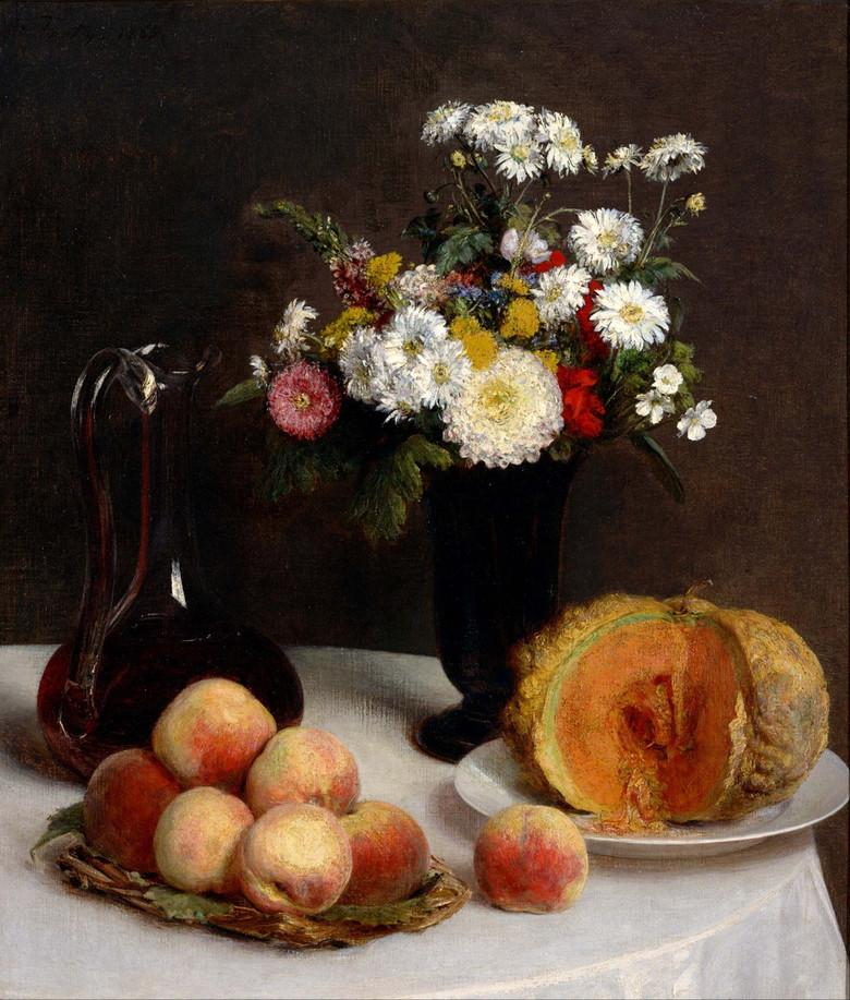 高清静物油画素材水果鲜花素材