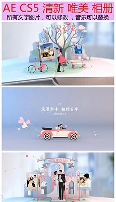 AE清新婚礼视频相册模板