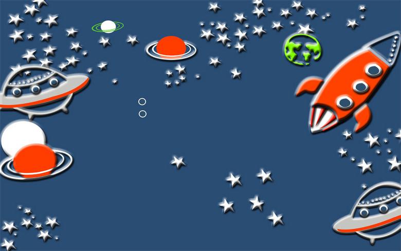 游星空星星飞船宇航员星际幻想背景壁画效果图 14626574 3D电视背