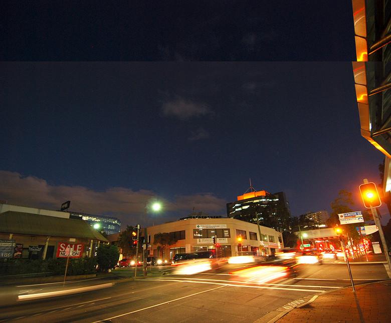 业街街商业建筑亮化夜景效果图图片