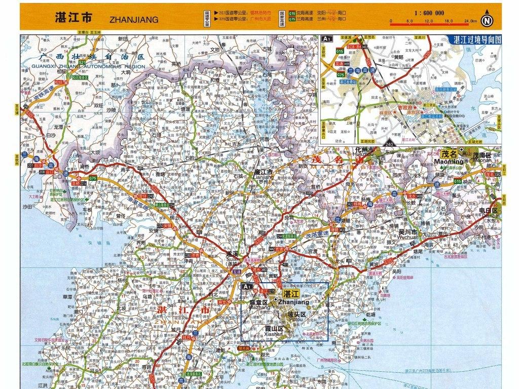 湛江市地图高清实用大图