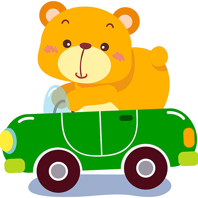 小熊简笔画颜色