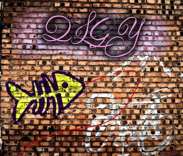 现代简约手绘墙绘墙画涂鸦砖墙背景墙效果图 14732039 现代简约电视