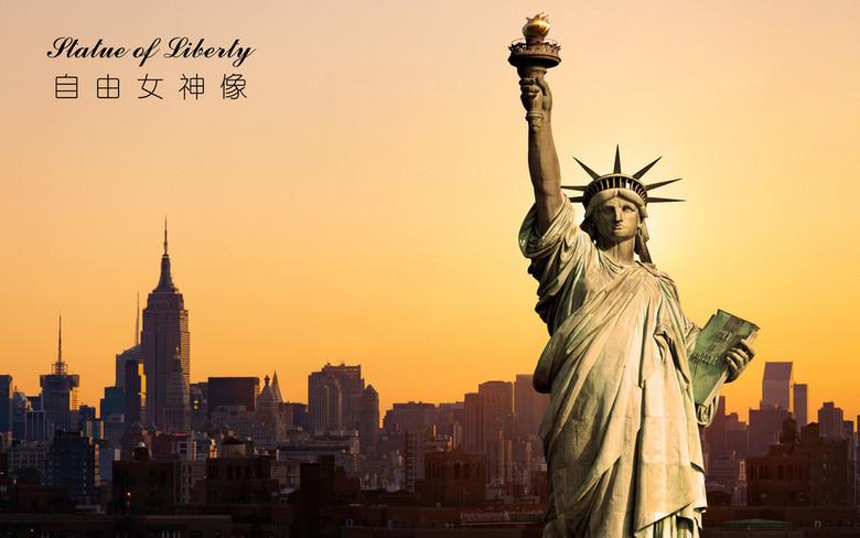 自由女神像高清背景墙