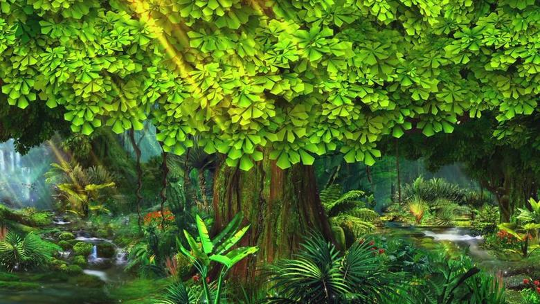 绿色梦幻森林唯美浪漫视频背景素材