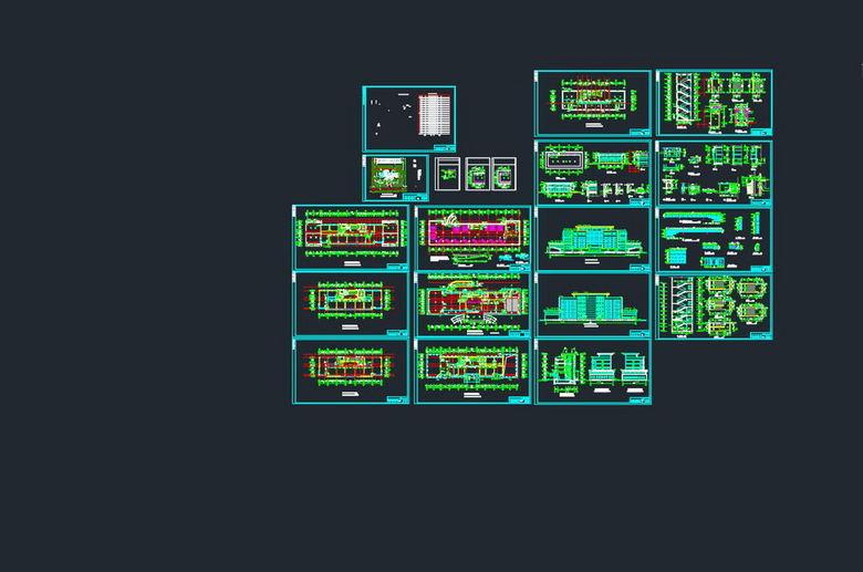 全套别墅CAD设计施工图