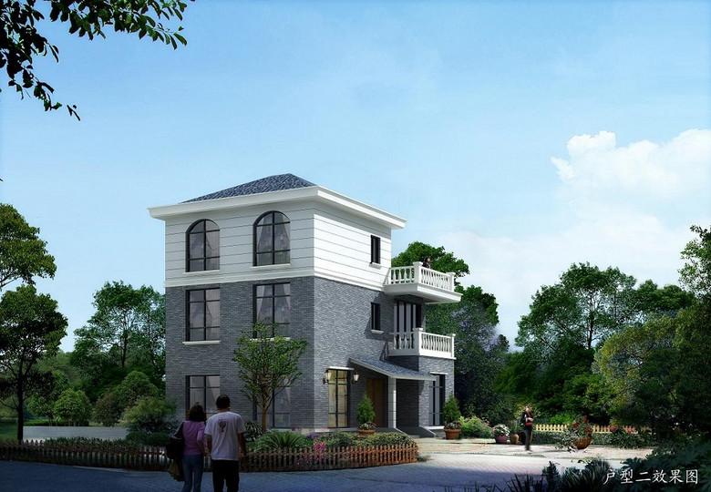 私家别墅设计图新农村自建房cad图