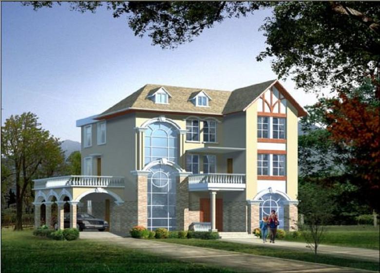 两层欧式别墅设计图新农村别墅cad图
