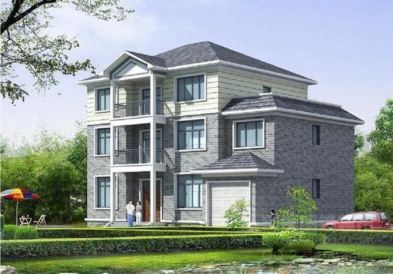 建筑设计 cad图纸  别墅图纸 > 三层美式别墅设计图现代别墅cad图