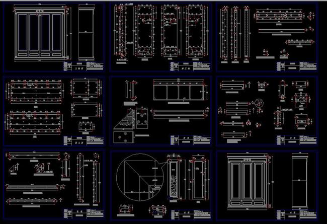 我图网提供独家原创CAD衣柜设计施工详图红木家具节点中式柜正版素材下载, 此素材为原创版权图片,图片,作品体积为,是设计师jiangminghai在2016-03-14 21:08:08上传, 素材尺寸/像素为-高清品质图片-分辨率为, 颜色模式为,所属柜子图纸分类,此原创格式素材图片已被下载2次,被收藏78次,作品模板源文件下载后可在本地用软件 AutoCAD 2004(.