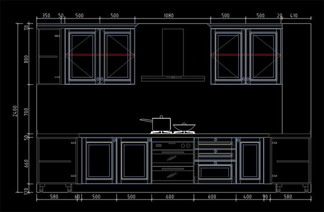 橱柜cad设计图