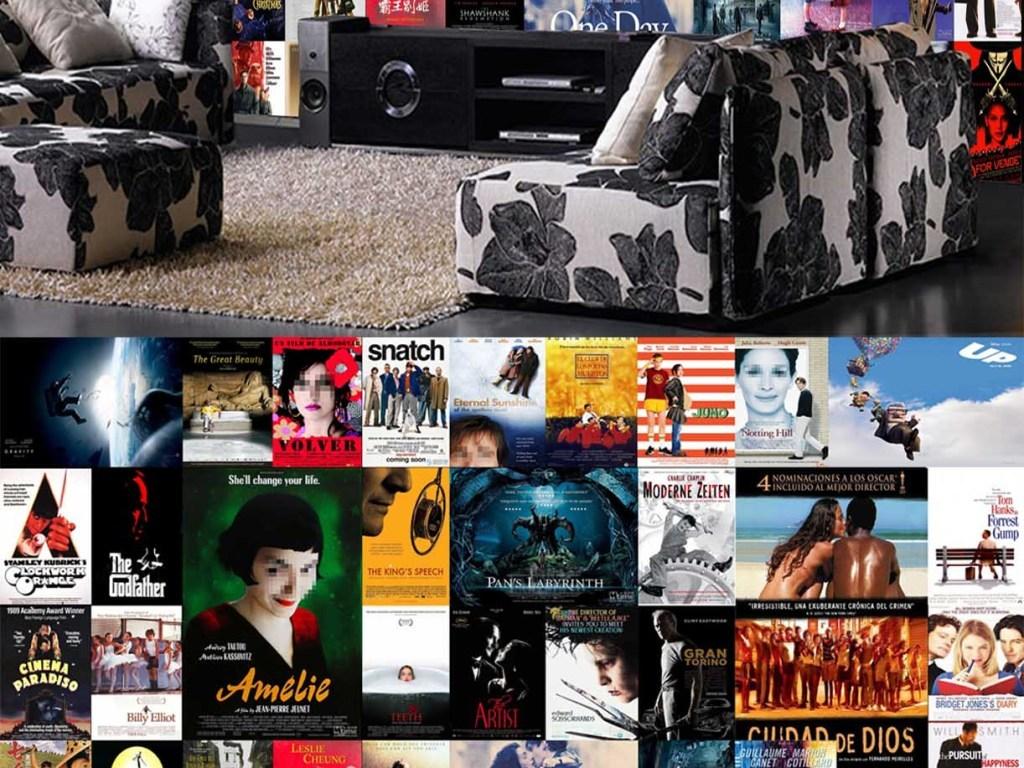 欧式老电影海报电视背景墙壁画
