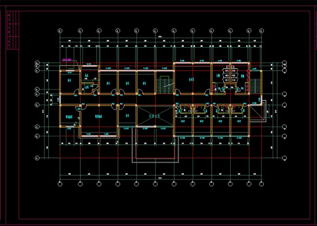 建筑设计 cad图纸  建筑图纸 > 收费站cad建筑图