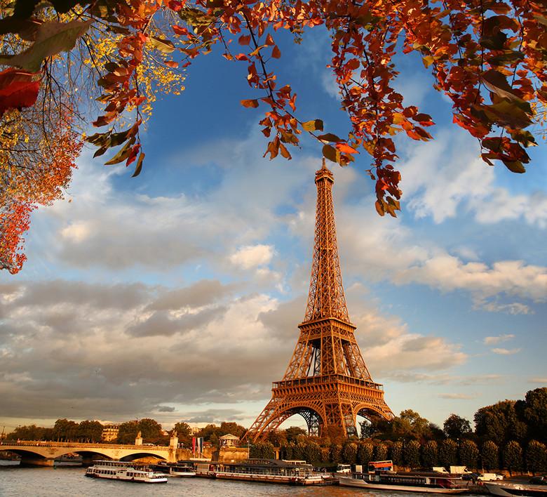 巴黎埃菲尔铁塔风光图片