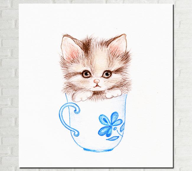 卡通小猫咪可爱猫咪装饰画