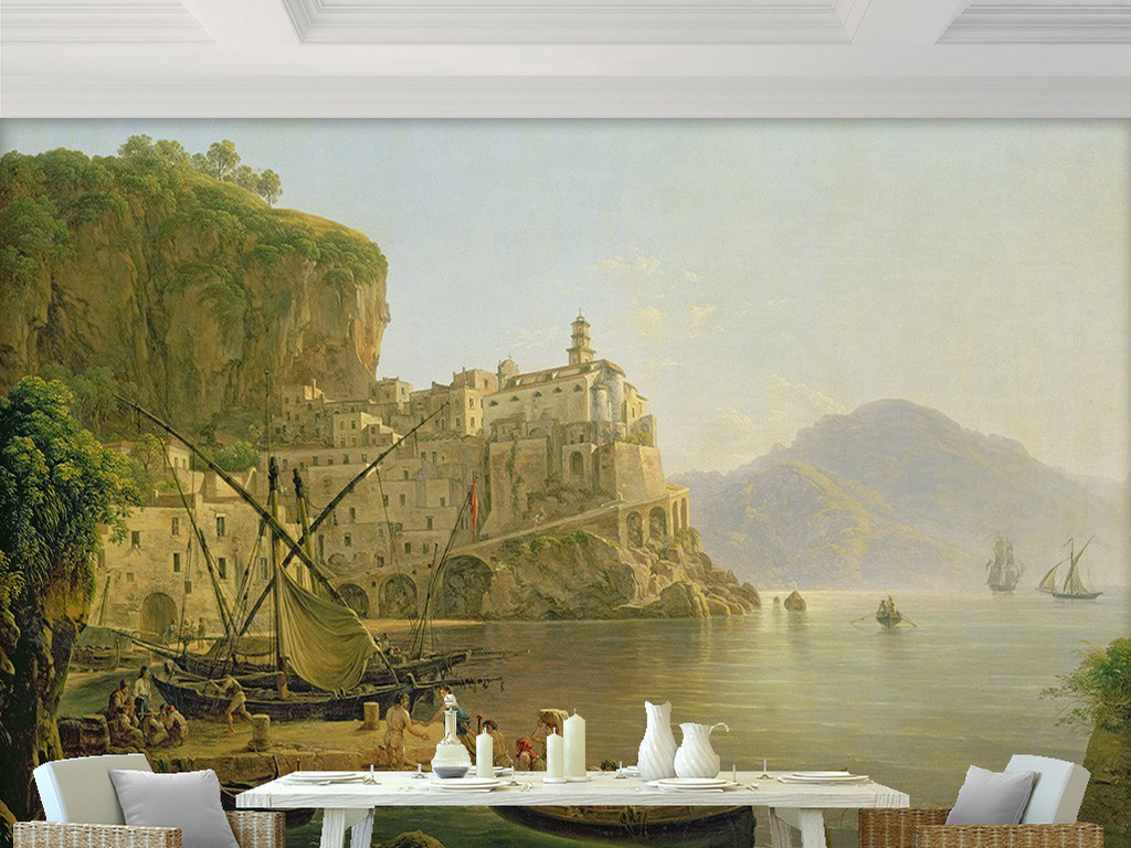 客厅电视背景墙沙发背景墙卧室背景墙餐厅背景墙手绘