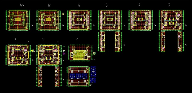 平面布置图                                  超市商场cad设计图